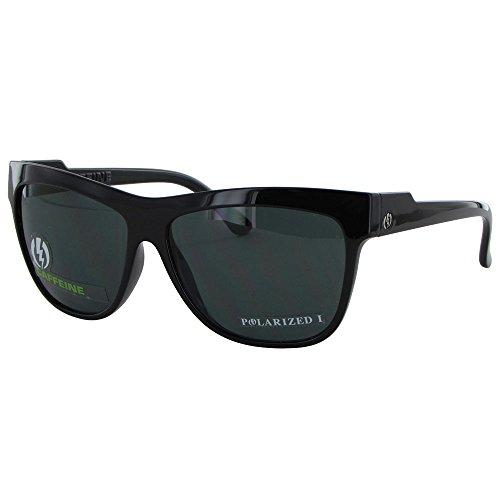 Electric Visual Women'S Caffeine Polarized Oval Sunglasses,Gloss Black Frame/Grey Pc Polar Lens,One Size