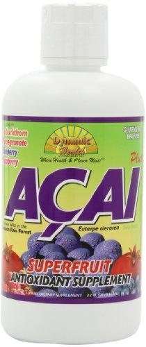 Dynamic Health Acai Plus, Superfruit Antioxidant Supplement Juice Blend, 32