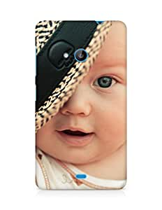 Amez designer printed 3d premium high quality back case cover for Microsoft Lumia 535 (Baby Child Hat)