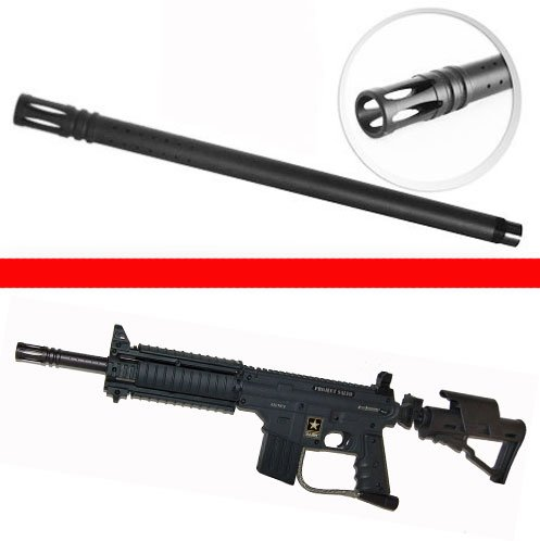 "Trinity Paintball Tactical Barrel For Us Army Project Salvo 16"" Long,Us Army Project Salvo 16"" Long Barrel,Us Army Project Salvo Barrel, Tippmann Model 98 Paintball Gun Barrel, Tippmann Gun Barrel, Tactical Paintball Barrel"