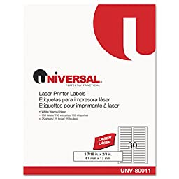 UNV80011 - Laser Printer File Folder Labels