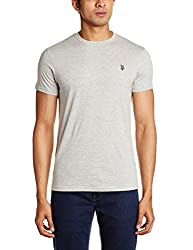 U.S. Polo Assn. Men's Crew Neck Cotton T-Shirt (I030-010-P1-M Grey Melange)
