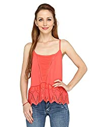 Pepperika Casual Sleeveless Solid Women's Top