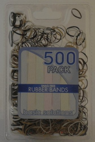 500 Pack Rubber Bands - Snag Free (Brown)