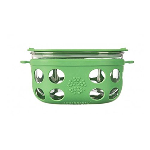 Lifefactory-Glass-Food-Storage-with-Silicone-Sleeve-Grass-Green-4-cups