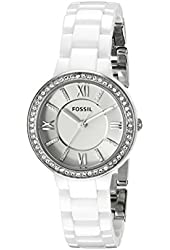 Fossil Women's CE1086 Virginia Stainless Steel Watch with White Ceramic Bracelet