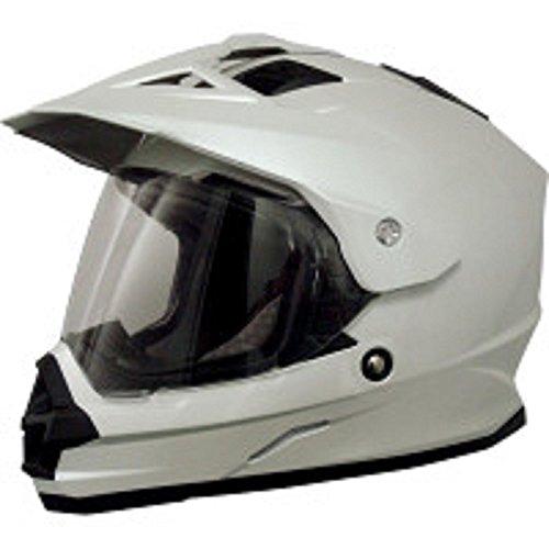 AFX FX-39 Unisex-Adult Full-Face-Helmet-Style Dual Sport Helmet (Pearl White, Medium)