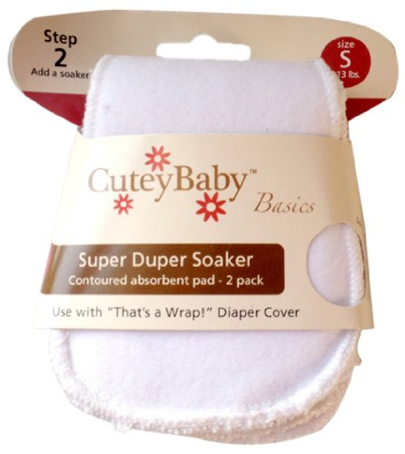 CuteyBaby 2 Pack Super Duper Soaker, Small