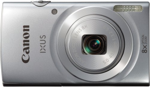 Canon IXUS 145 Digitalkamera (16 Megapixel, 8-fach opt. Zoom, 6,8 cm (2,6 Zoll) LCD-Display, HD-Ready) silber