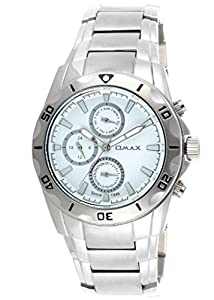 OMAX Men's Stainless Steel Multifunction Watch White - SS576