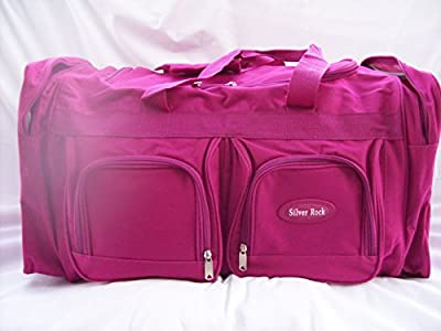 "26"" Womens Girls Large Holdall (CLASSIC HOT PINK) IDEAL FOR, Weekend Bag,Hospital, Maternity Bag,Travel Holdall Flight Luggage Bag, School College Holdall, Sport Gym Bag,(Ideal For Business) (H0T PINK) ("