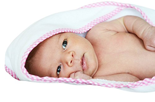 TopNotch Baby Hooded Baby Bath Towel, Pink (Whale Tub Thermometer compare prices)