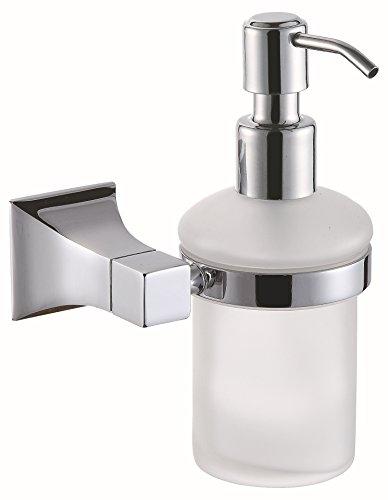 Distributeur de savon monté sur mur en cuivre , chrome 01-YU&XIN
