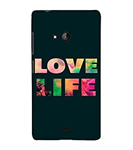 PrintVisa Life Quotes Design 3D Hard Polycarbonate Designer Back Case Cover for Nokia Lumia 540