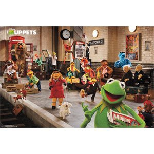"Muppets Most Wanted Movie Poster - Platform 34""x22"" Art Print Poster"