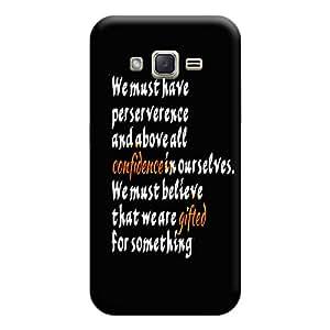 BUZZWORLD Samsung J3 2016 Confidence Quotes 3D Printed Mobile Back Case Cover (Matte) (Multicolor)
