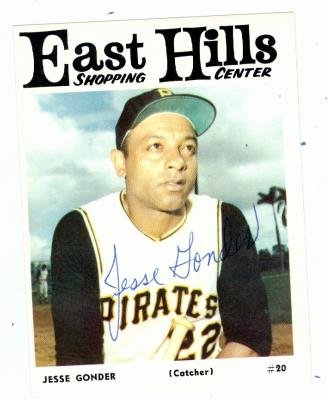 Jesse Gonder autographed 1966 East Hills Pittsburgh Pirates #20 (67)