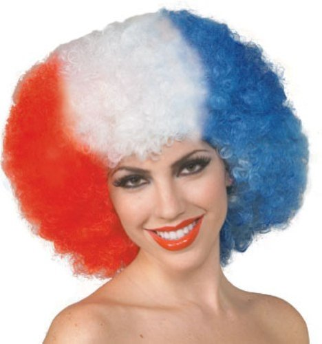 Rubie's Costume America The Beautiful Patriotic Wig, Multicolored, One Size