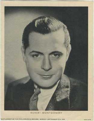 Robert Montgomery 1936 Dated M23 Newspaper Supplement Photo
