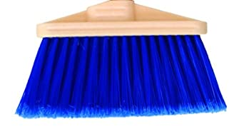 "Magnolia Brush 472-DS Household Broom, Flagged Poly Bristles, 4"" Trim, 9"" Length, Blue (Case of 12)"