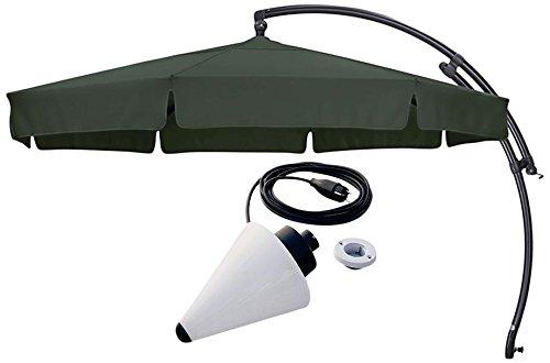 Sun Garden Ampelschirm Easy Plus Durchmesser 350 cm, Bezug 100% Polyester grün, Aluminiumgestell anthrazit günstig online kaufen