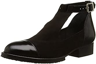 Jonak 225-2401, Chaussures de ville à lacets femme, Noir (Velours/Polido/Noir), 41 EU