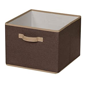 Household Essentials Storage Bin with Handles, Coffee Linen