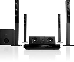 Philips HTB5570D/12 5.1 Entertainment-System (SmartTV, WiFi, Bluetooth, Full HD 3D Blu-ray, Dolby TrueHD, 1000 W) schwarz