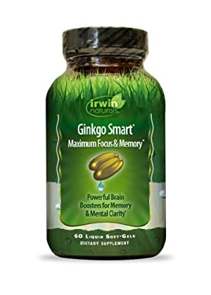 Irwin Naturals Ginkgo Smart Maximum Focus & Memory Dietary Supplement