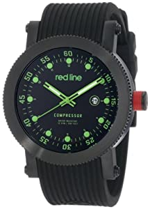 red line Men's 18001-0BB-01GN Compressor Collection Watch