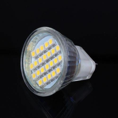 Generic Mr11 24 Led 3528 Smd Warm White Dc 12V Bulb Light Lamp With Cover For Home/ Hotel