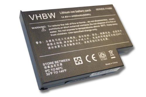 Batterie LI-ION 4400mAh 14.8V noir compatible pour HEWLETT PACKARD remplace CGR-B1870AE, F4486, F4486A, F4486B, F5398
