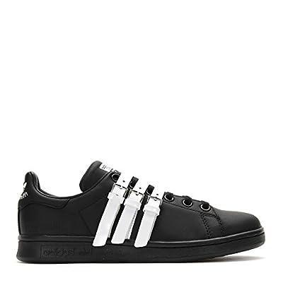 Adidas X Raf Simons Stan Smith Strap Sneakers S75801 Black White SZ UK 7.5 / US 8