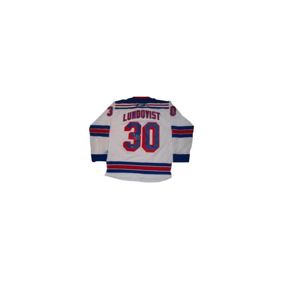 best website 927ce 25312 Henrik Lundqvist Jersey Reebok Replica White Autographed NHL ...