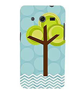 animated tree in polka dot and stripes pattern 3D Hard Polycarbonate Designer Back Case Cover for Samsung Galaxy Core 2 G355H