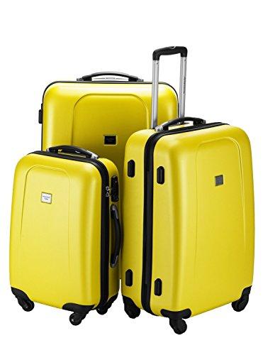 HAUPTSTADTKOFFER® Set di valigie · (103.0;67.0;42.0 liters) · TSA BLOCCO · più colori (Giallo)