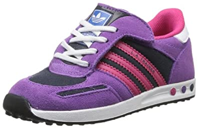 adidas Baby La Trainer CF I First Walking Shoes Purple Violett (Legend Ink S10/Ray Purple F13/Running White Ftw) Size: 22