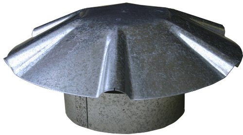 Speedi-Products EX-RCGU 06 6-Inch Diameter Galvanized Umbrella Roof Vent Cap
