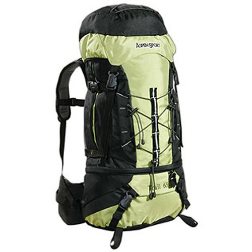 Aspensport Trail Trekking Rucksack - 65 Litres, Green/Black