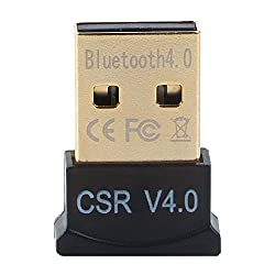 VeeDee Bluetooth CSR 4.0 USB Adapter, Gold Plated Micro Dongle 33ft/10m Compatible with Windows 10,8.1/8,7,Vista, XP, 32/64 Bit and Wireless USB 2.4GHz for for Desktop , Laptop,computers (black)