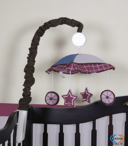 Geenny Musical Mobile For Boutique Western Cowgirl 13 Pcs Crib Bedding Set