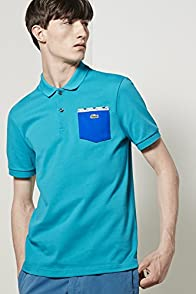 L!ve Short Sleeve Zig Zag Pocket Jersey Polo Shirt