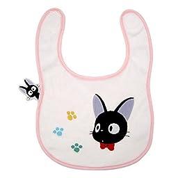 Studio Ghibli Kiki\'s Delivery Service Bib Black Cat Jiji and Footprints