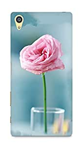 Amez designer printed 3d premium high quality back case cover for Sony Xperia Z5 Plus (Pink Flower In The Glass Cup)