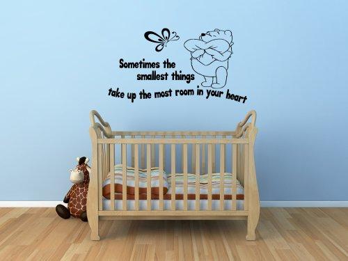 Winnie The Pooh Kids Nursery Wall Sticker Decal 9 (Black) front-740557