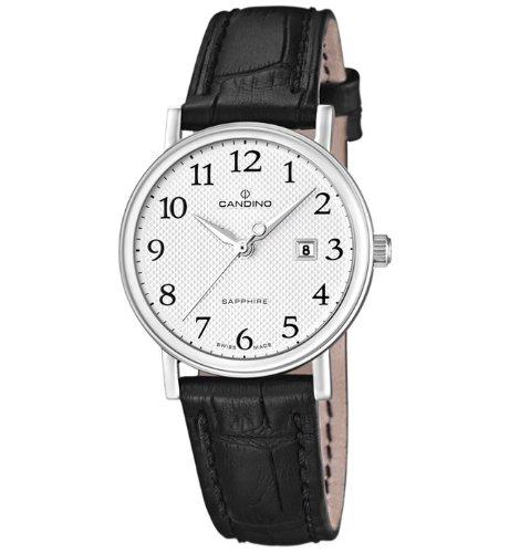 Candino Swiss Made can-22822-DAU - Reloj para mujeres, correa de cuero color negro
