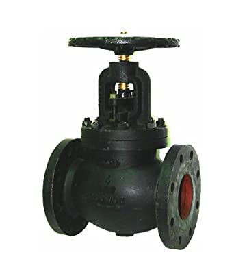 Apollo 721F Series Cast Iron Globe Valve, Class 250, Inline, Bolted Bonnet, Flanged