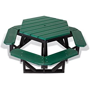 Ultra Play 26-HEX-CDR / 26-HEX-GRN / 26-HEX-GRY UltraSite Hexagon Recycled Table Color: Green from Ultra Play