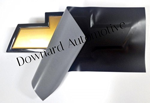 """Auto Emblem Vinyl KIT Black Matte Decal (overlay) You Cut Chevy emblem covers from (2) 11"""" x 5"""" Sheets -"""