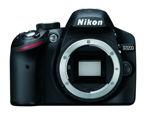 Nikon D3200 Digital SLR Camera Body Only - Black (24.2MP) 3 inch LCD
